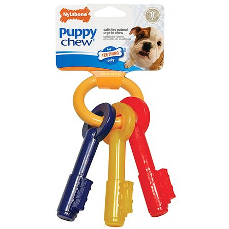 NYLABONE-PUPPY-CHEW-LLAVES-X-SMALL-TOCINO