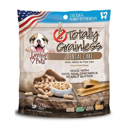 TOTALLY-GRAINLESS-DOG-SNACK-DENTAL-POLLO-Y-MANTEQUILLA-MANI-SMALL-6OZ