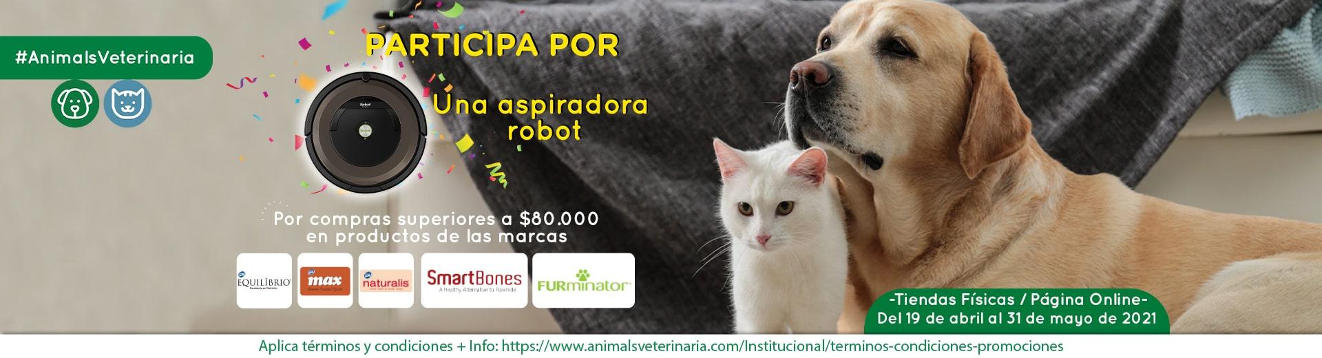 PROMO ALIMENTOS PARA PERROS - Aspiradora Robot